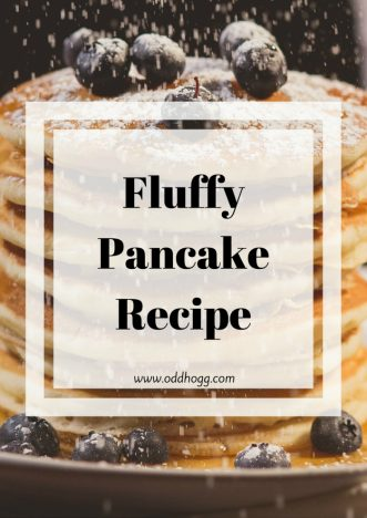 Pancake Recipe | This is our family recipe for American style pancakes - or drop scones as we used to call them. Big and fluffy, these scotch pancakes make a delicious breakfast with bacon and syrup. A delicious weekend treat! https://oddhogg.com