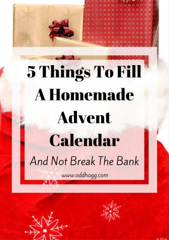 5 Things To Fill Your Homemade Advent Calendar
