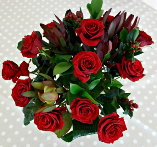 Prestige Flowers Review | Top View of Bouquet http://oddhogg.com