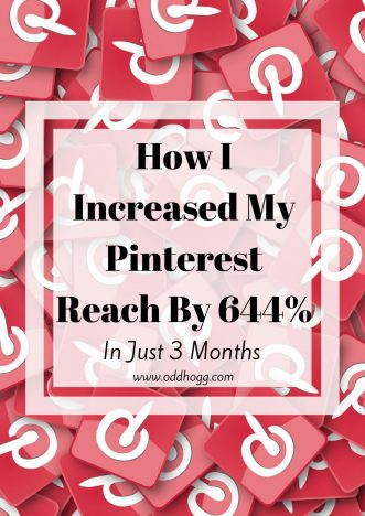 How I Increased My Pinterest Reach By 644% In Just 3 Months | Getting traffic to your website from Pinterest can seem impossible, but I have a way to improve your reach in 4 simple steps! http://oddhogg.com