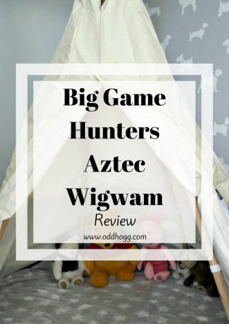 Aztec Wigwam Review | For Piglet's 1st birthday we got him a teepee. We've been road testing it to see how it stands up to the toddler test https://oddhogg.com