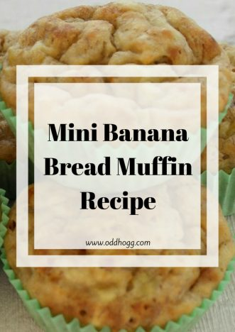 Mini Banana Bread Muffin Recipe | An easy recipe that replaces sugar with honey to give a natural sweetness. A treat that the whole family loves, and is a great way to get one of your five a day https://oddhogg.com
