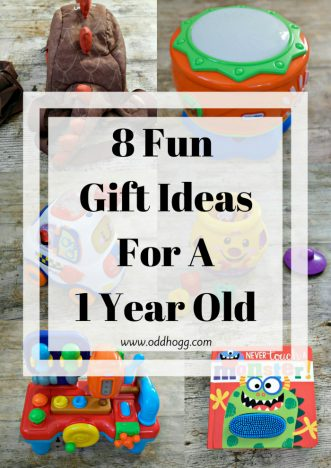 8 Fun Gift Ideas For A 1 Year Old | If you are looking for the perfect present to give a 1 year old on their birthday or for Christmas then I've got the perfect list for you. A range of prices to suit all budget https://oddhogg.com