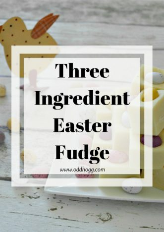 Three Ingredient Easter Fudge | This fudge is smooth and sweet and super easy to make. It's a great way to impress your friends with minimal effort. It is truely delicious and totally addictive. The ideal treat this easter - and this recipe shows you how to make it at home https://oddhogg.com