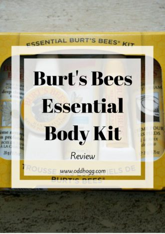 Burts Bees Essential Body Kit Review | Trying out natural body products made with beeswax. Perfect for busy mums who want a quick skincare routine https://oddhogg.com