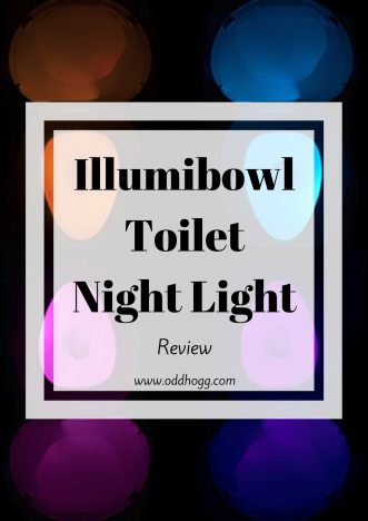 Illumibowl Review | A toilet night light - what a clever idea! Motion sensor activated, we have been trying out this light to see how suitable it would be for tired parents https://oddhogg.com