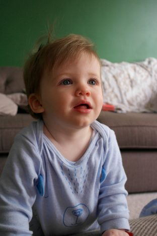 My Toddler Can't Walk - And That's OK | 1 year old standing https://oddhogg.com