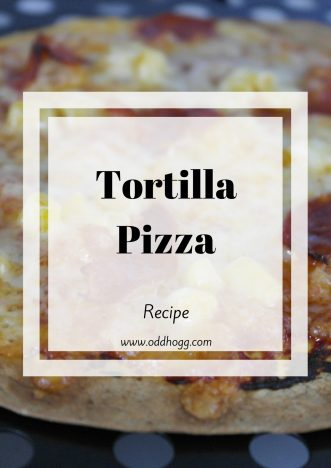 Tortilla Pizza Recipe | I have a meal idea that the whole family will love. Lower calories than a normal pizza, and you can add hidden veggies for kids. It's quick and easy - a perfect mid week meal https://oddhogg.com