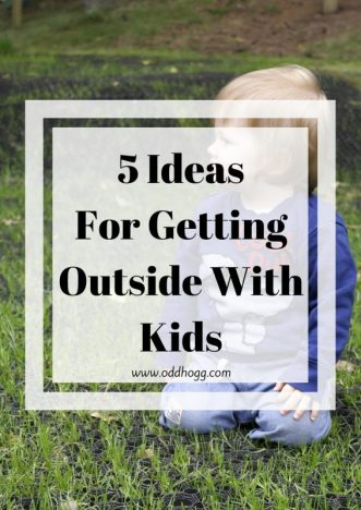 5 Ideas For Getting Outside With Kids | We often lack motivation for getting outside during, but as a mum it is up to me to come up with some fun ideas to get the kids outside. Here are a few of the tricks we use to get the kids excited to go out https://oddhogg.com
