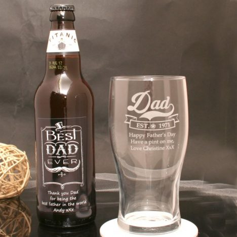 5 Personalised Fathers Day Gifts With Gifts4U | Beer and Glass https://oddhogg.com