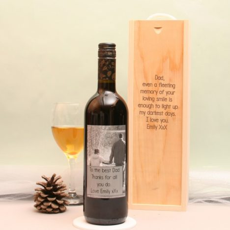 5 Personalised Fathers Day Gifts With Gifts4U | Personalised Wine Bottle And Box https://oddhogg.com