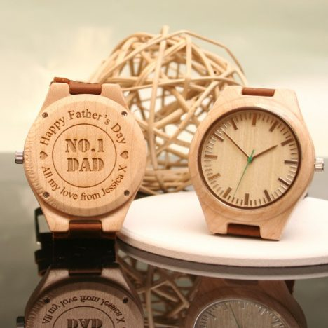 5 Personalised Fathers Day Gifts With Gifts4U | Wooden Watch https://oddhogg.com