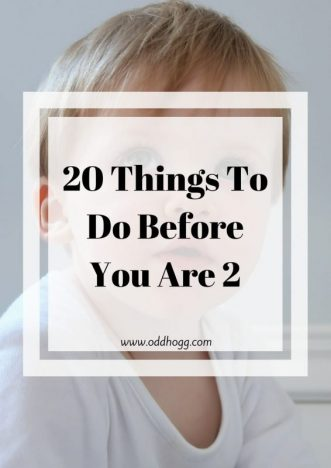 20 Things To Do Before You Are 2 | A Bucket list of toddler activities to try and do before their second birthday https://oddhogg.com