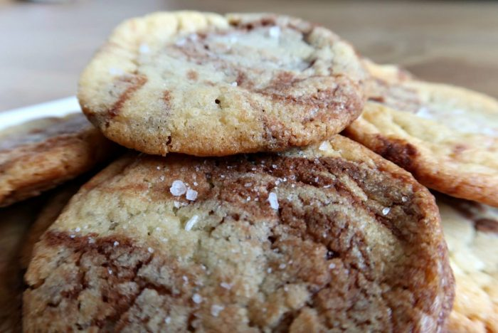 Salted Nutella Cookies Recipe | Freshly Baked Cookies https://oddhogg.com