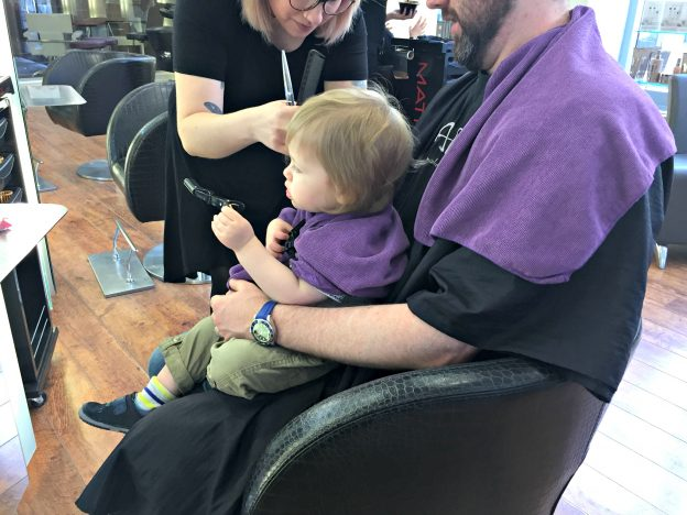 Piglet's First Hair Cut | Toddler Haircut https://oddhogg.com