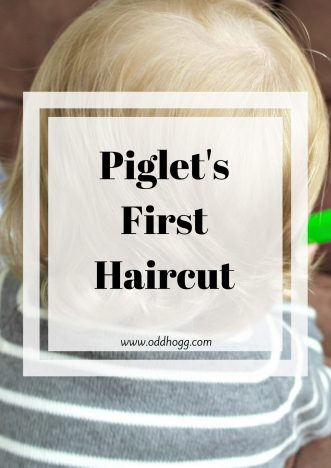 Piglet's First Hair Cut | The time has finally come for the next milestone, taking him for his first haircut. We did well to last until he was toddler but the day finally came! https://oddhogg.com