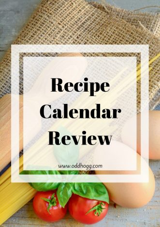 Recipe Calendar Review + *Giveaway*