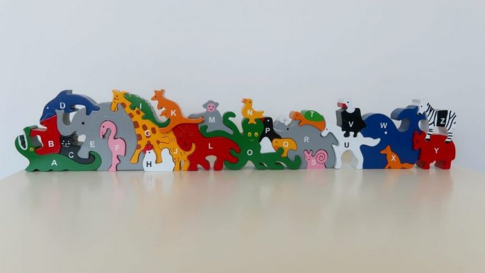 SRI Toys Review - Animal Alphabet Puzzle https://oddhogg.com