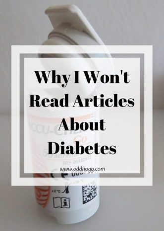 Why I Won't Read Articles About Diabetes