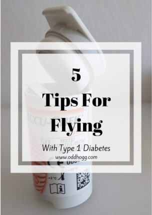 5 Tips For Flying With Type 1 Diabetes | It can be daunting to get on an airplane when you have diabates. You may be nervous about what you need to do at security, or what to pack in your hand luggage. These are my top 5 tips to make your trip a little smoother https://oddhogg.com