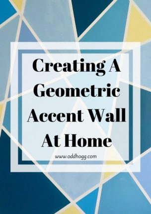 Creating A Geometric Accent Wall At Home | Do you want to make a unique feature wall in your home? There's no need to pay someone, you can get a professional look by following a few simple steps at home. DIY never looked so goo! https://oddhogg.com