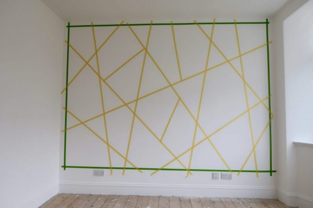 Creating A Geometric Accent Wall At Home | Wall Marked Up https://oddhogg.com