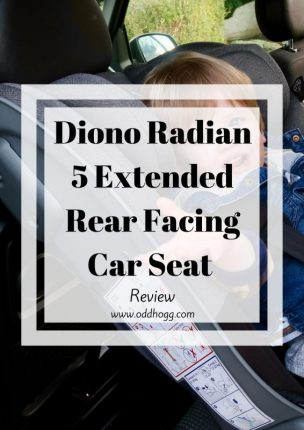 Diono Radian 5 Extended Rear Facing Car Seat Review | We have been trying out the Radian 5 with our toddler to see if it is as easy to use as they claim https://oddhogg.com