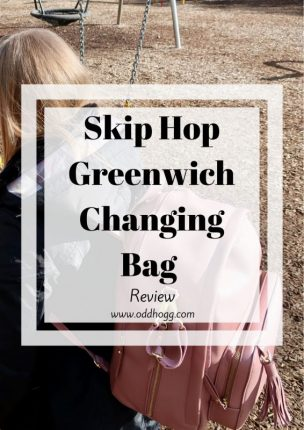 Skip Hop Greenwich Changing Bag Review | We have been trying out a new changing bag to see how it will work for 2 kids. I love the backpack style https://oddhogg.com