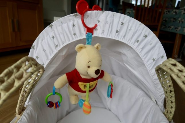 Disney Baby Winnie the Pooh Activity Toy | Winnie the Pooh toy hanging up https://oddhogg.com