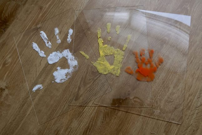 Baby Art Family Touch Review | Prints waiting to dry https://oddhogg.com
