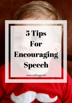 5 Tips For Encouraging Speech In Toddlers | Are you struggling to get your toddler to talk? I have a 5 tips for simple things to do with kids to help encourage them to talk and use language more often https://oddhogg.com