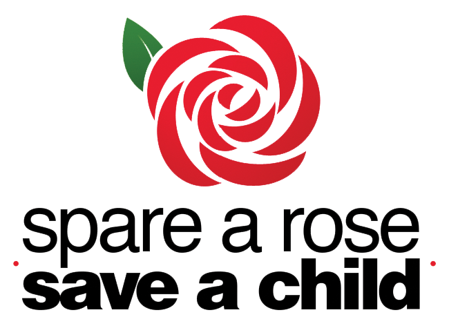 Spare a rose, save a child logo www.oddhogg.com