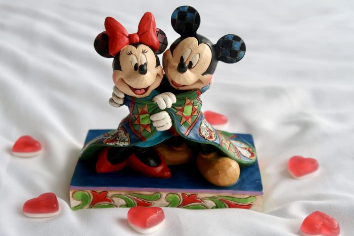 Affordable Valentines Gift Ideas For Parents | Mickey Mouse and Minnie Mouse figurine www.oddhogg.com