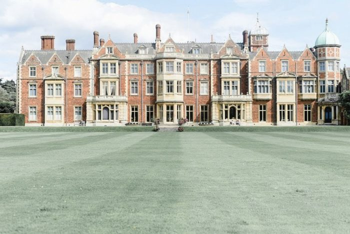Sandringham Estate and the lawns in front of it