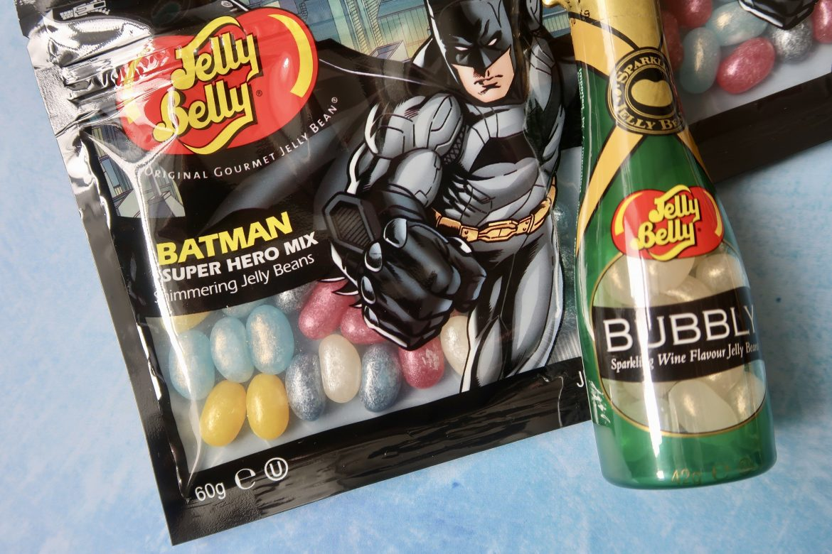 Jelly Belly DC Comics superhero range. A packet of Batman themed jelly beans for Father's Day