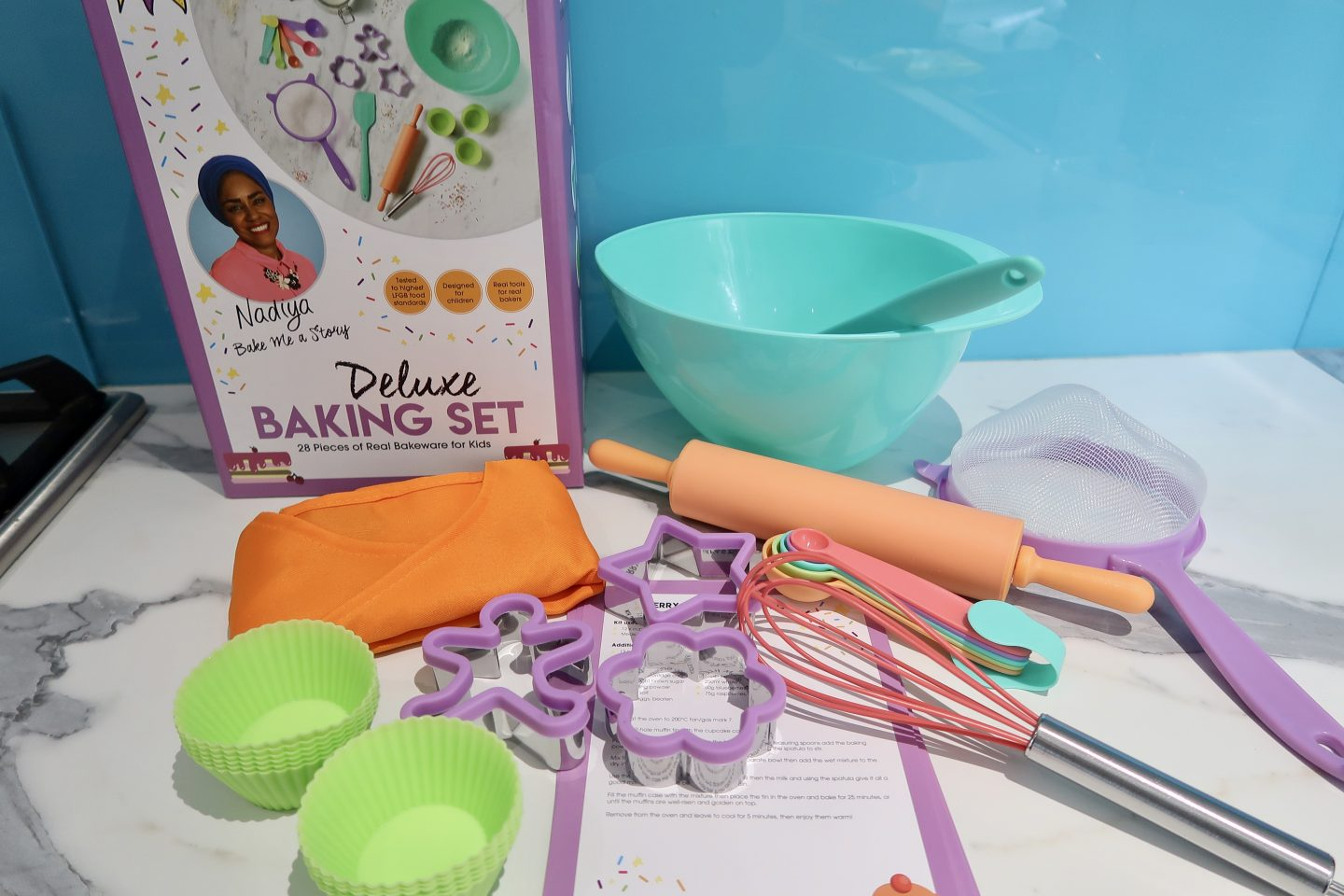 The contents of a Deluxe Baking Set